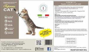 Etichetta Barattolo Supreme Cat